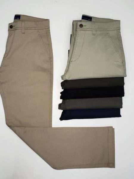viaandrea calca sarja 5 bolso com elastano acetinada 6
