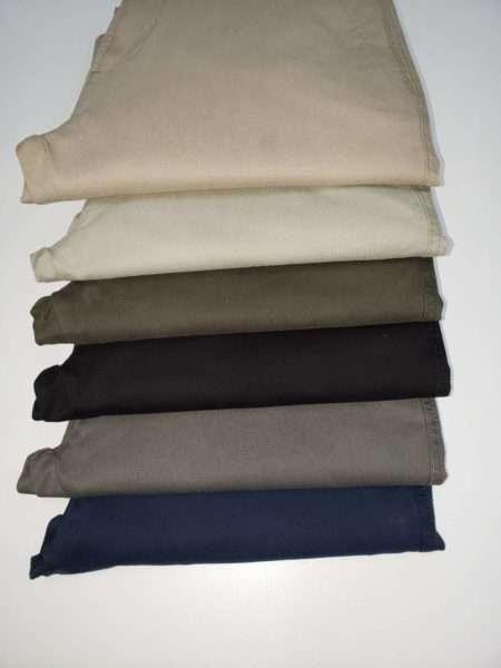 viaandrea calca sarja 5 bolso com elastano acetinada 7