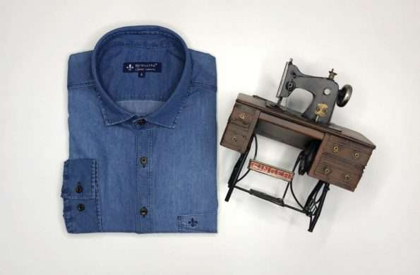 viaandrea camisa dudalina manga longa com bolso confort fit