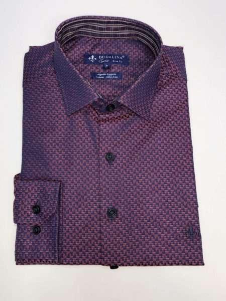 viaandrea camisa dudalina manga longa comfort fit 1