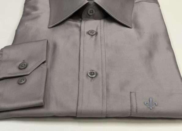viaandrea camisa dudalina manga longa comfort fit com bolso azul petroleo 03