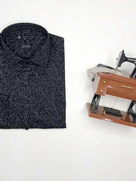 viaandrea camisa dudalina manga longa minimalista night slim fit 1