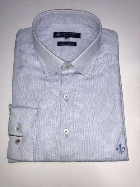viaandrea camisa dudalina manga longa minimalista slim fit 1