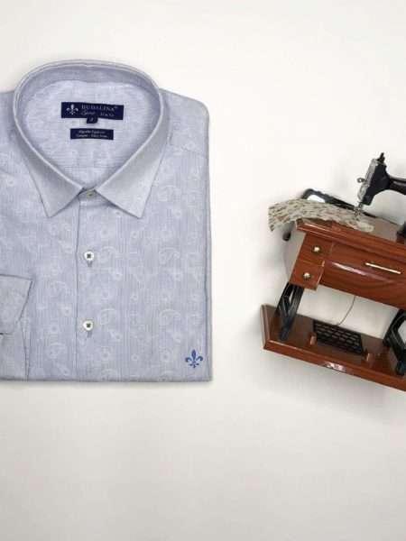 viaandrea camisa dudalina manga longa minimalista slim fit