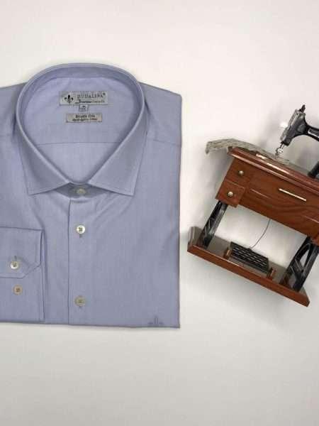 viaandrea camisa dudalina manga longa plus size fio a fio comfort azul bebe 44 2