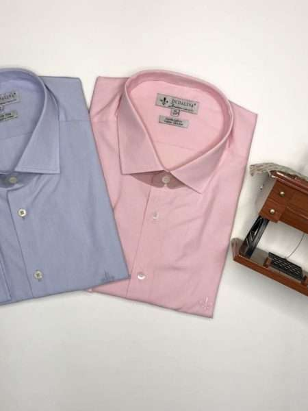 viaandrea camisa dudalina manga longa plus size fio a fio comfort azul bebe 44