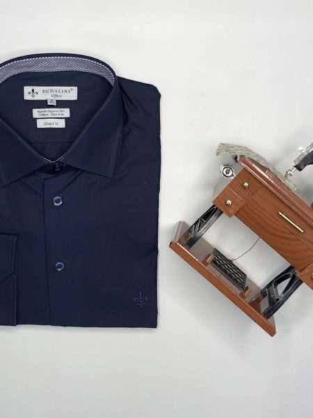 viaandrea camisa dudalina manga longa slim fit marinho 1