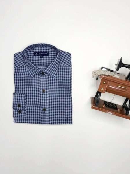 viaandrea camisa dudalina sport slim fit copia azul 3