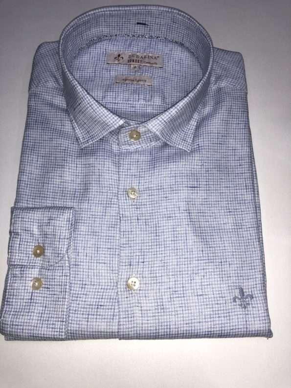 viaandrea camisa dudalina sunset comfort fit azul 4