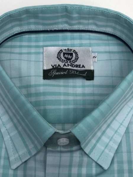 viaandrea camisa via andrea manga curta corte tradicional 2
