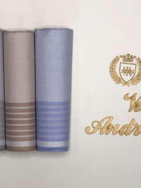viaandrea lenco presidente kit com tres lencos finos