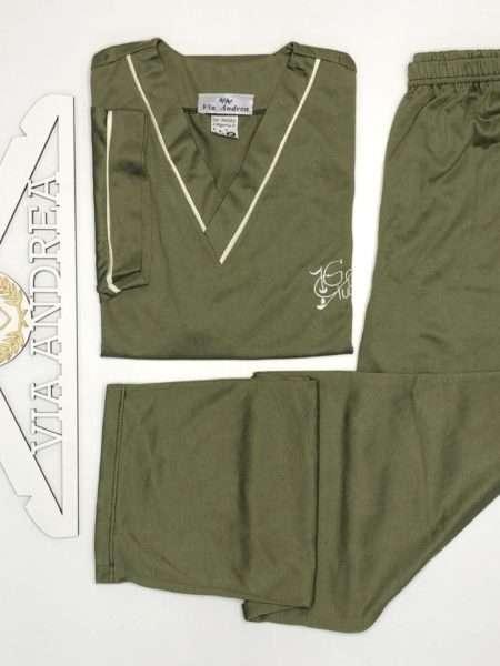 viaandrea pijama gola v com calca manga curta