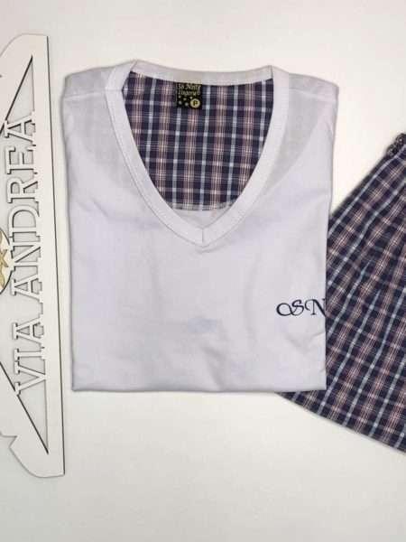 viaandrea pijama manga curta gola redonda com short