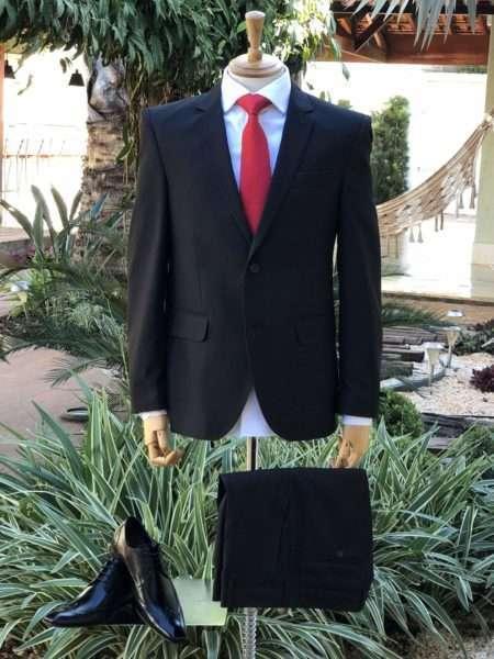 viaandrea terno costume slim fit mquinetado plus size