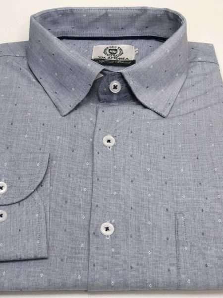 viaandrea camisa via andrea manga longa com bolso tradicional trabalhado 4