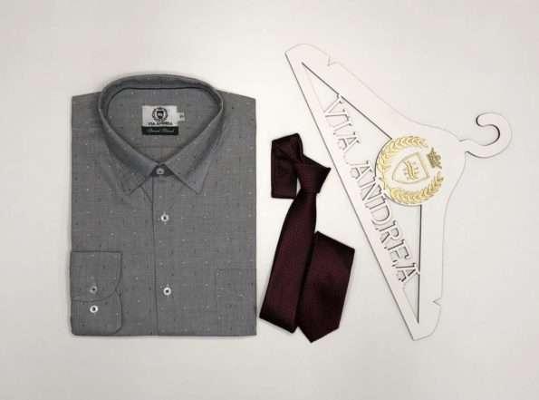 viaandrea camisa via andrea manga longa com bolso tradicional trabalhado azul marinho tamanho 6