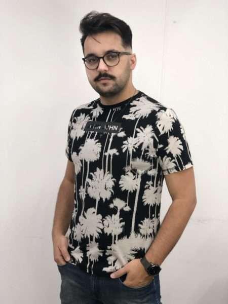 viaandrea t shirt john john rg palm tree