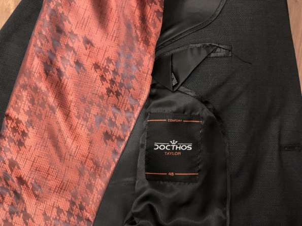 viaandrea blazer paleto docthos confort fit maquinetado 4