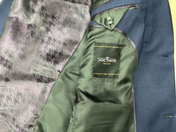 viaandrea blazer paleto docthos confort fit maquinetado 8