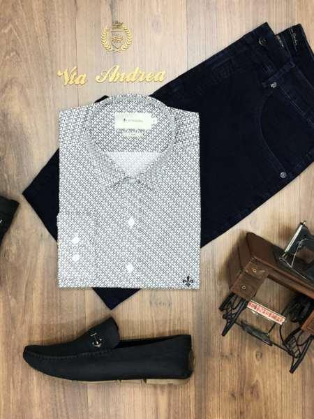 viaandrea camisa dudalina manga longa minimalista
