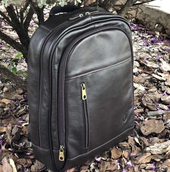 viaandrea mochila de costas com porta notebook couro 1