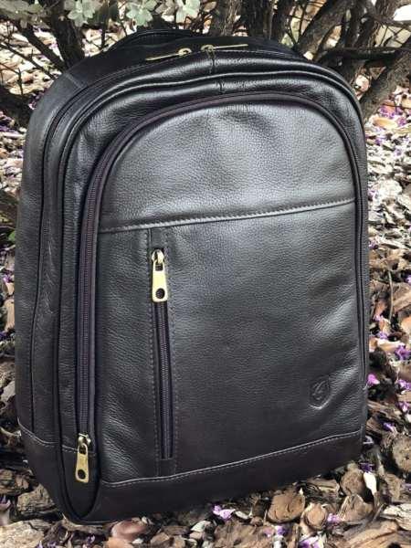 viaandrea mochila de costas com porta notebook couro