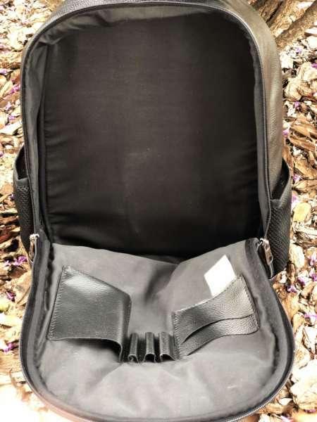 viaandrea mochila em couro com porta notebook 10