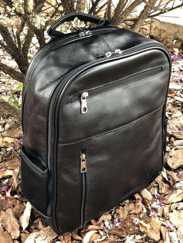 viaandrea mochila em couro com porta notebook 12