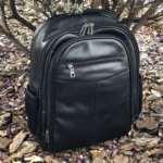 viaandrea mochila em couro com porta notebook