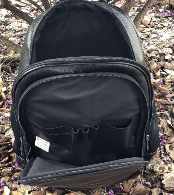 viaandrea mochila em couro com porta notebook 4