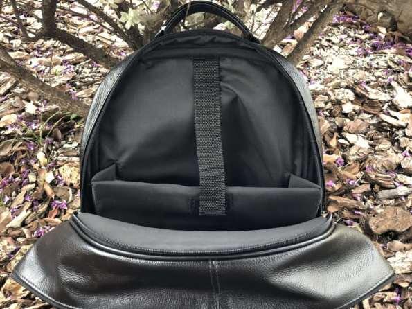 viaandrea mochila em couro com porta notebook 5
