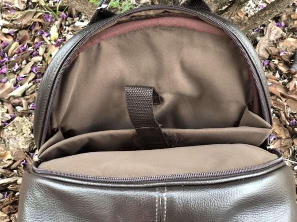 viaandrea mochila em couro com porta notebook 9