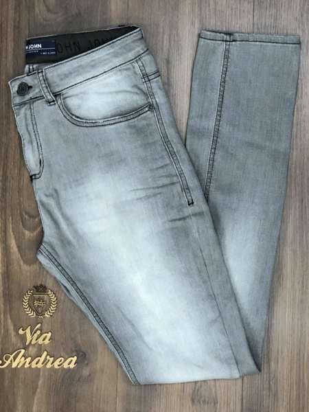 viaandrea calca jeans john john black fit skinny