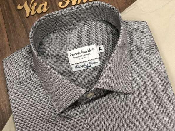 viaandrea camisa fideli manga longa extrafine cotton 6