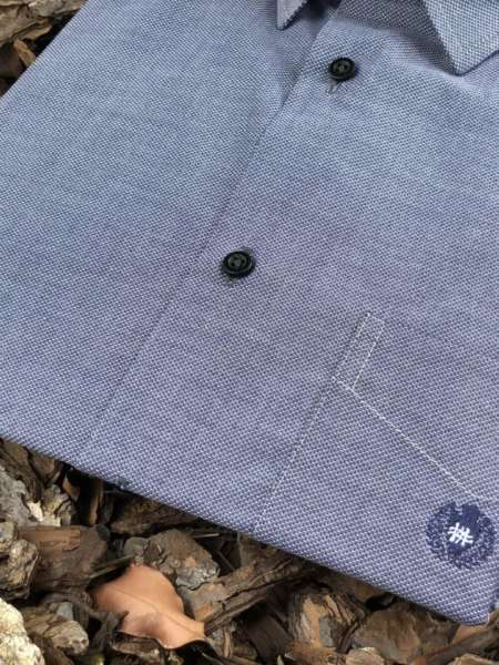 viaandrea camisa via andrea manga curta micro estampa 1