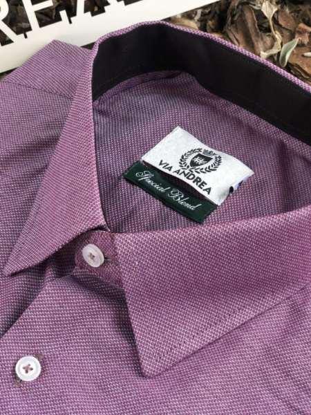 viaandrea camisa via andrea manga curta micro estampa 5