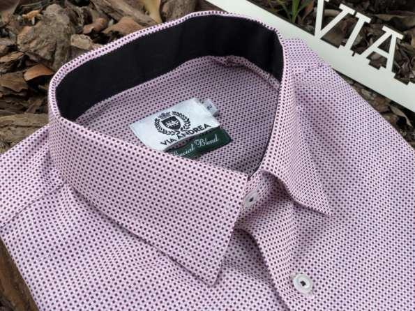 viaandrea camisa via andrea manga curta micro estampa maquinetada 2