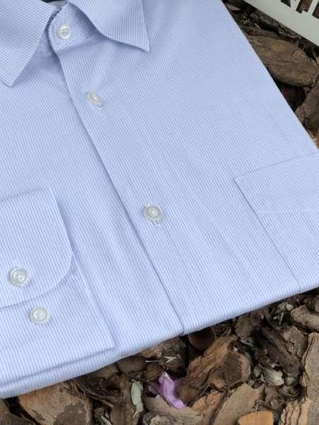 viaandrea camisa via andrea manga longa listra fina 1