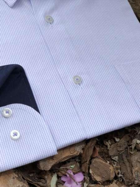 viaandrea camisa via andrea manga longa micro xadrez 2