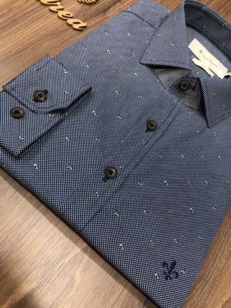 viaandrea camisa dudalina slim fit micro poa 4