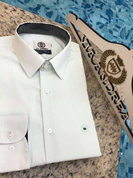 viaandrea camisa via andreia manga long