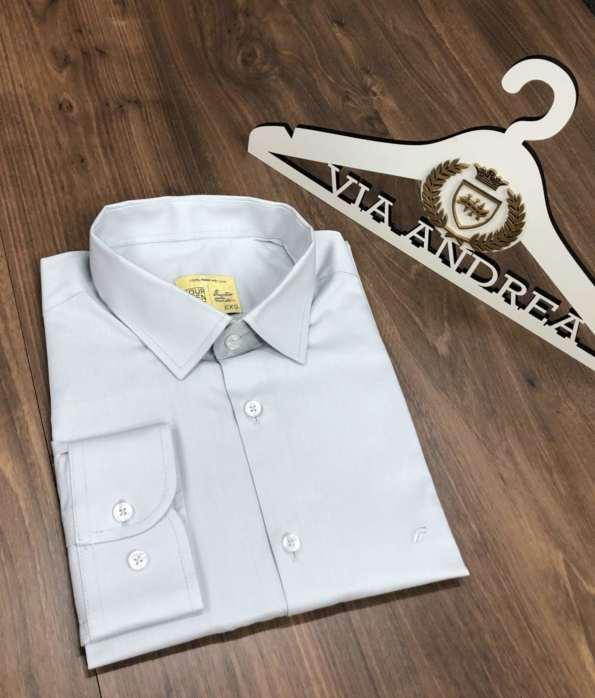 viaandrea camisa slim four teen basica 7