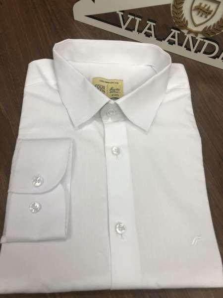 viaandrea camisa slim four teen basica 9