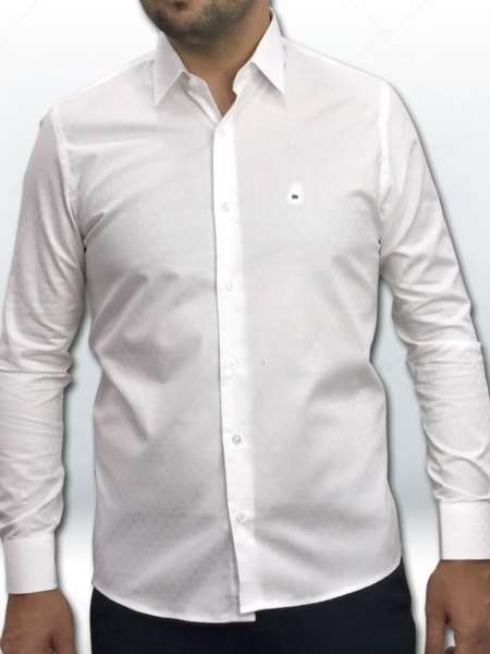 viaandrea camisa via andrea manga longa tradicional fio100 maquinetado