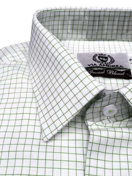 viaandrea camisa via andrea manga longa tradicional fio100 quadriculada 1