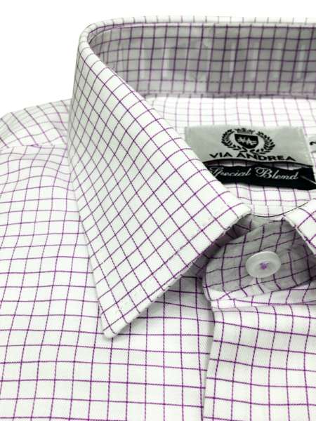 viaandrea camisa via andrea manga longa tradicional fio100 quadriculada 3