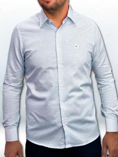 viaandrea camisa via andrea manga longa tradicional fio100 quadriculada 9