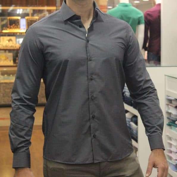 viaandrea camisa dudalina slim fit micro poa algodao egipcio 15
