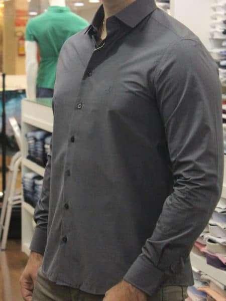 viaandrea camisa dudalina slim fit micro poa algodao egipcio 16