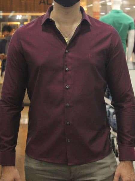 viaandrea camisa dudalina slim fit micro poa algodao egipcio 18